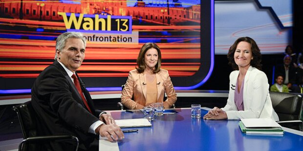 TV-Duell I: Faymann gegen Glawischnig