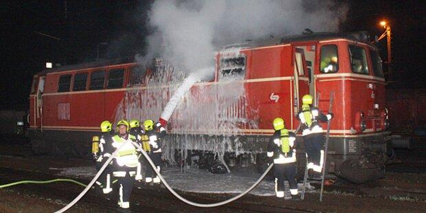 Lokomotive ging in Flammen auf