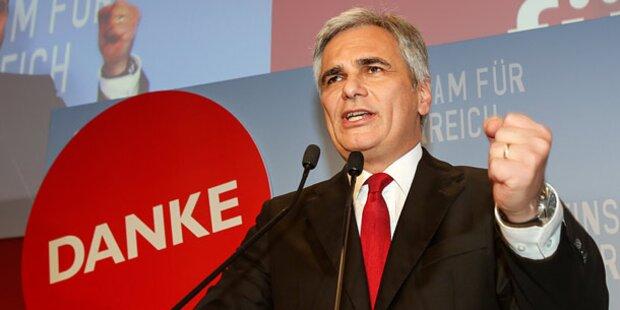 SPÖ-Wähler wählten wegen Faymann Rot