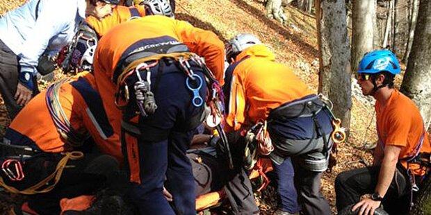 Wanderer rutschte aus: Schwer verletzt