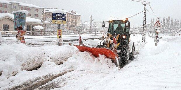 Wintereinbruch in Österreich!