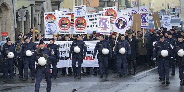 Burschenschafter: Polizist verletzt