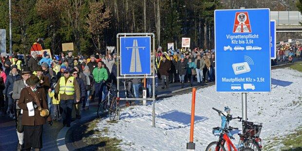 Vignetten-Krieg: Demo gegen Pickerl