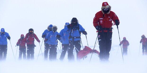 Prinz Harrys Südpol-Marsch unterbrochen