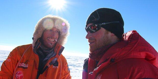 Prinz Harry: Südpol-Wettlauf abgebrochen