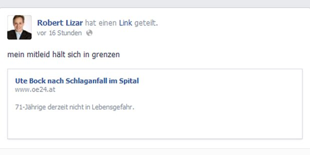 FPÖ verhöhnt Ute Bock nach Schlaganfall