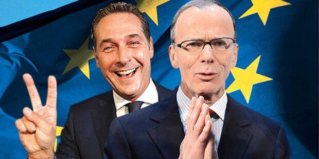 EU-Krimi: SPÖ knapp auf Platz 1