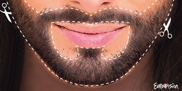 Conchita Wurst Bart zum Ausschneiden