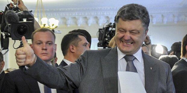 Schoko-König Poroschenko ist neuer Präsident
