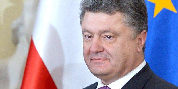 Ukraine: Poroschenko ordnet Waffenruhe an