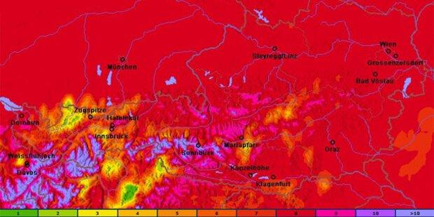 UV-Warnung für Teile Österreichs