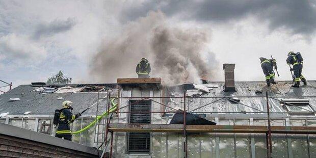 120 Feuerwehrler löschten Wohnhausbrand