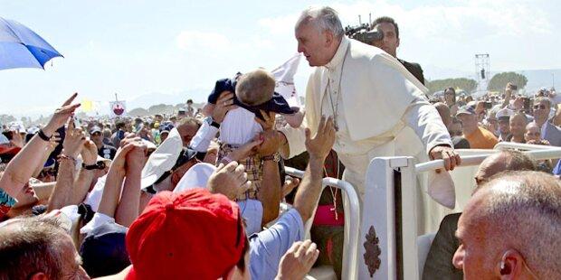 Papst ruft zum Einsatz gegen die Mafia auf