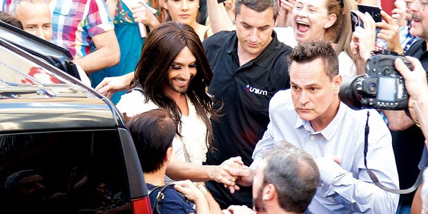 Conchita Wurst ließ sich in Madrid feiern