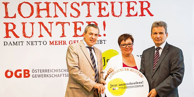 ÖGB startet Steuer-Reform-Kampagne