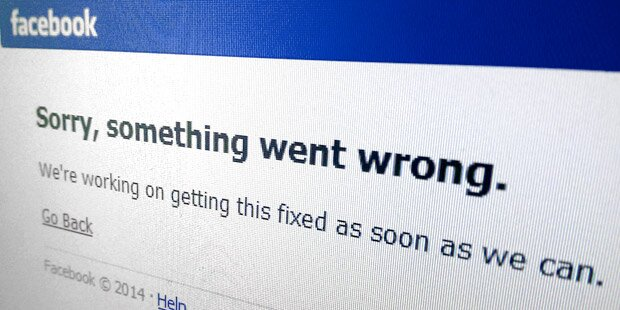 Facebook nach Störung lahmgelegt
