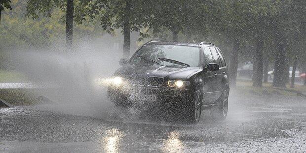Starkregen-Warnung am Wochenende