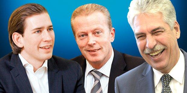 Umfrage: VP-Minister sind neue Polit-Stars