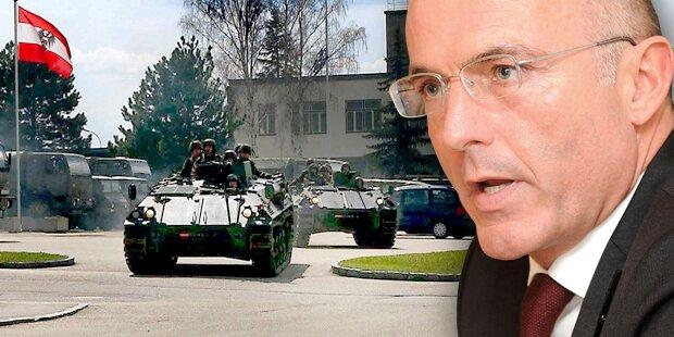 Bundesheer: Fünf Kasernen vor Schließung