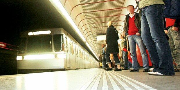 Schwan auf Gleisen von U1 überrollt