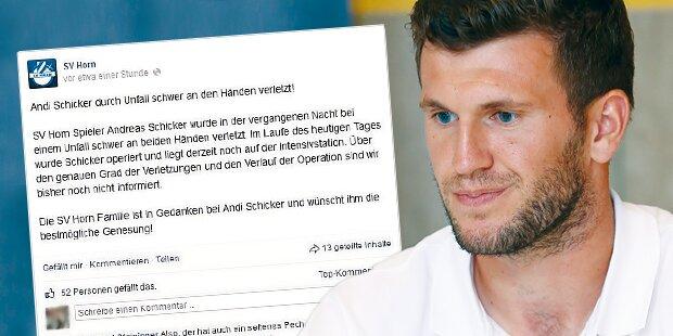 Fußballer nach Böller-Unfall Hand amputiert