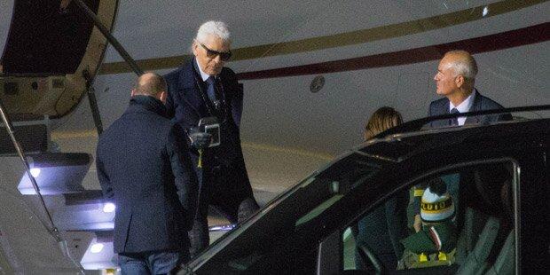 Karl Lagerfeld feiert in Salzburg