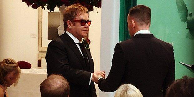 Elton John hat seinen David geheiratet