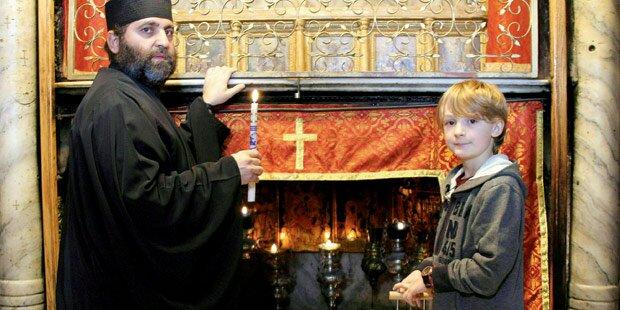 Tizian bringt uns heute das Friedenslicht