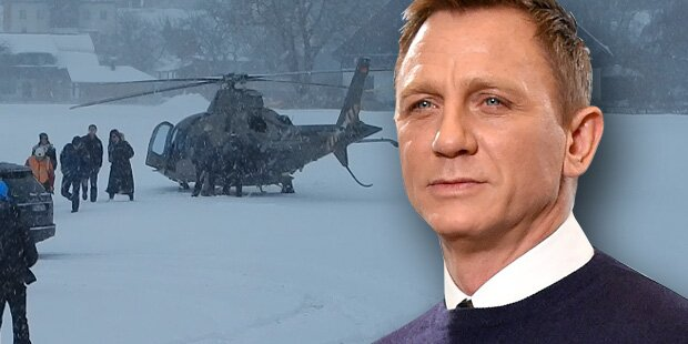 Daniel Craig: Geheimer Anflug im Schneesturm