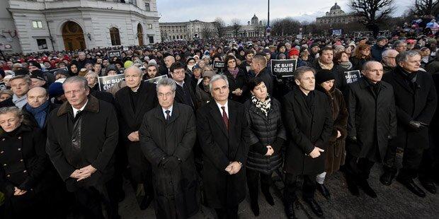 12.000 Menschen bei Trauerfeier in Wien