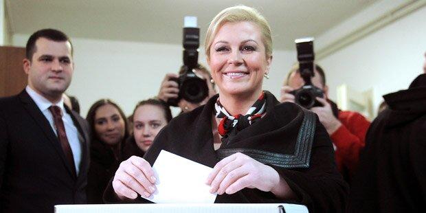 Kroatien: Frau wird erstmals Präsidentin