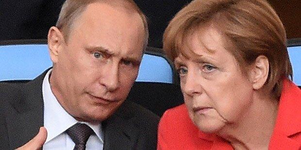 Gipfel mit Putin, Merkel und Poroschenko