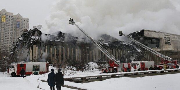 Großbrand in Moskauer Bibliothek