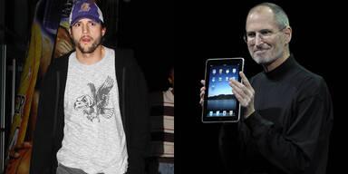 Ashton Kutcher und Steve Jobs