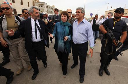 Ashton EU Libyen Rebellen Bengasi