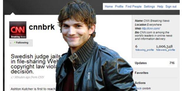 Ashton Kutcher: Twitter-Sieg über CNN