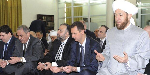 Assad zeigt sich erstmals seit 4 Wochen