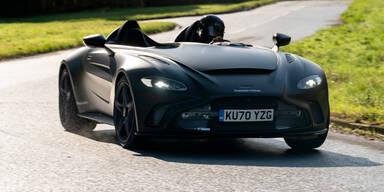 Aston Martin V12 Speedster als Prototyp unterwegs