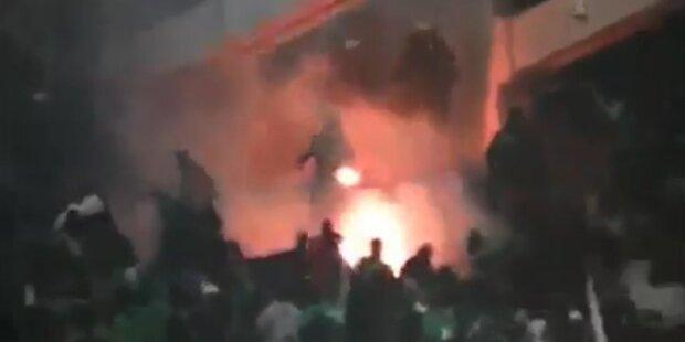 Athen-Derby nach Randalen abgebrochen