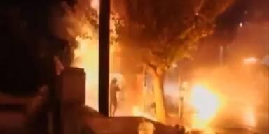 Schwere Proteste gegen Sparprogramm in Athen