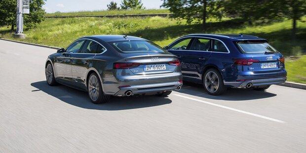 Audi A4 und A5 mit Erdgas-Antrieb starten