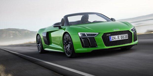Audi schiebt den R8 Spyder V10 plus nach
