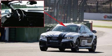 Dieser Audi fährt ohne Fahrer