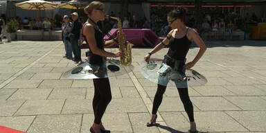 Audioballerinas tanzten durchs Wiener MQ