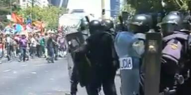 Krawalle: Minenarbeiter gegen Sparpolitik in Madrid