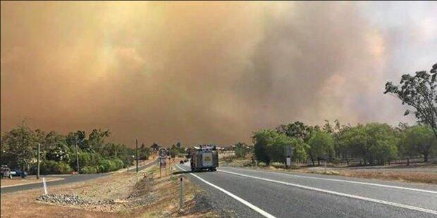 Hitze und Wind: Feuer wüten in Australien