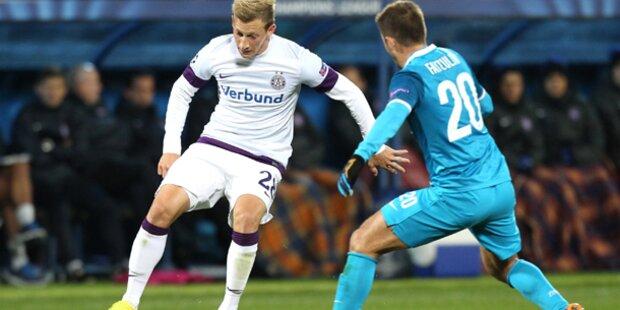 Austria ringt Zenit-Stars einen Punkt ab