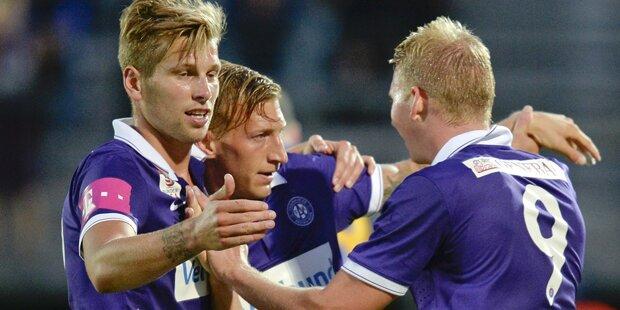 Austria gewinnt gegen Wr. Neustadt 2:0