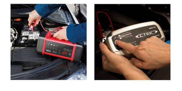 Autobatterie-Ladegeräte - Vergleich