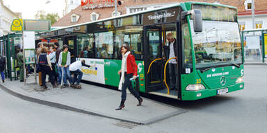 Grazer Bus musste Notbremsung machen